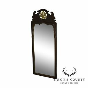 Quality Beveled Mirror Flame Mahogany Pierced Giltwood Carved Looking Glass