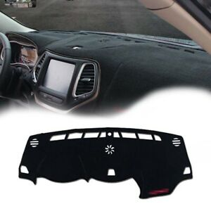 Black Dashboard Dash Mat Cover Trim Sun Protector Pad For 2014 Up Jeep Cherokee