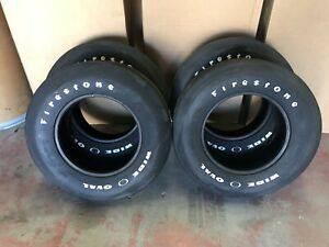 Vintage Firestone Wide Oval Tires F70 15 Bias Ply White Letter Set Of 4 Nice