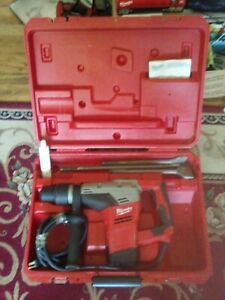 Milwaukee 5317 20 9 16 Inch Sds Max Rotary Hammer W bits Case Excellent Cond