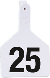 Z Tags Cow Ear Tags White Numbered 126 150