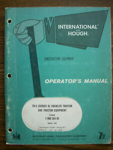 Ih Farmall Mccormick International Td9 Series B Crawler Owners Manual