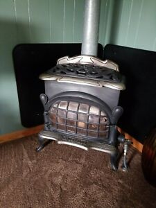 Antique Cinderella No 43 Gas Parlor Stove Original Over 100 Years Old Euc