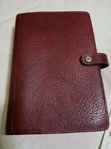 Filofax The Original Personal Planner Burgundy Leather With Tons Of Fillers