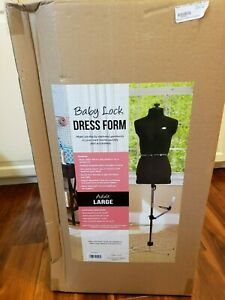 Baby Lock Dress Form Brand New Mannequin Display Size Large nib Never Opened