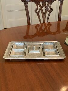 Rare Antique Art Nouveau Sterling Silver Smoking Set Kerr