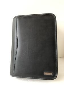 Leather Franklin Covey Classic 7 1 5 Ringed Black Smooth Zip Planner Binder