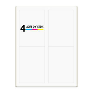400 Labels 3 5x5 Rounded Corner Self Adhesive 4 Labels Per Sheet Packzon