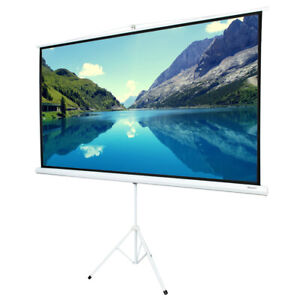 84 16 9 Hd Portable Pull Up Projector Screen With Stand Tripod For Home Theater