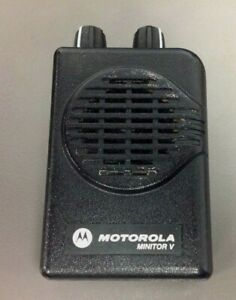 Motorola Minitor 5 Pager Only Model A03kms9239bc Vhf 2 Ch Sv Good Cond