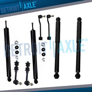 4wd Front Rear Shocks 4 Sway Bars For 1996 1998 1999 Dodge Ram 2500 8800gvw