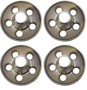 Set Of 4 Mopar Rallye Chrysler Wheels Center Cap 5x4 5 Bolt Pattern Dark Grey
