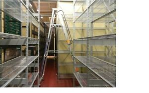 Lozier Type S Galvanized Steel Shelving 20 Feet 5 Sections 12 x4x2 h w d
