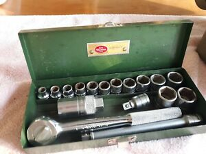 Nice Sk S k Tools 17 Pc 3 8 Dr Metric Socket Set In Sk Metal Case 7 Mm 19 Mm