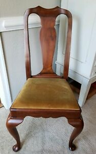 Henkel Harris Solid Cherry Queen Anne Style Dining Side Chair 109s Free Ship