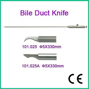 Fda Ce Brand New Bile Duct Knife 5x330mm Laparoscopy Endoscopy Ce 101 025a
