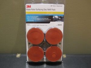 3m 01411 Roloc Brake Rotor Surfacing Disc Refill Pack New