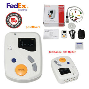 Tlc6000 24hours Records Ecg Holter Pc Software Dynamic Ecg Systems Usa Shipping