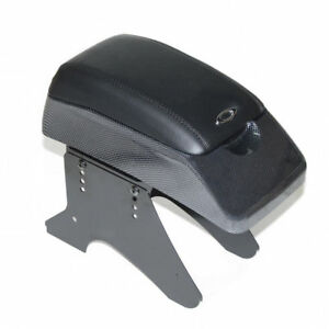 Universal Carbon Armrest Arm Rest Centre Console Leather Padded Box Dvd Holder