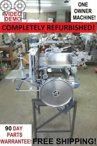Berkel 180d Commercial Automatic Meat Cheese Slicer Stacker Rebuilt Unit
