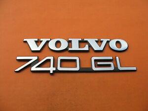 83 84 85 86 87 88 89 90 91 Volvo 740 Gl Rear Emblem Logo Badge Sign Symbol Set