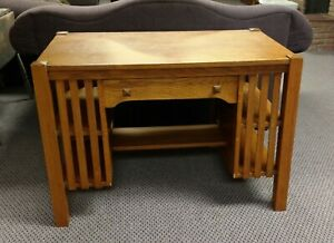 Mission Arts Crafts Stickley Style Library Table Desk Solid Oak Early 1900 S