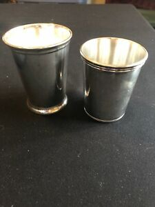 2 Silver Mint Julep Cups Stewart S Made In Italy International Silver Co