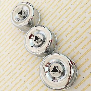 Hot Rod 3 X 2brl Air Cleaners Tri bar Wing Nuts Low Profile 2 5 8 Neck