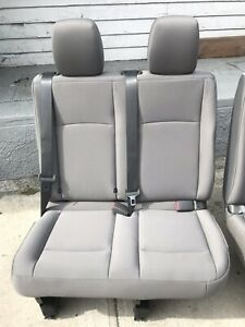 2016 Nissan Nv3500 Last Row Right Side Bench Seat In Grey Cloth