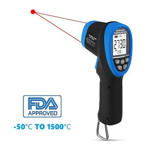 Infrared Temperature Non Contact 50 1500c Digital Laser Ir Gun Thermometer 30 1