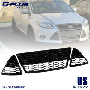 Black Replacement Front Upper Grill Grille Fit For Ford Focus 2012 2013 2014