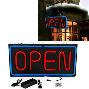 Hot Open Sign Led Neon Light Business Light Bar Club Wall Decor 24x12 Inch Usa