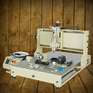 Usb 4axis Cnc 6090 Router Engraver Metal Milling Drilling Water cooled 2200w Vfd