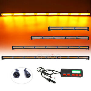 12 To 46 Cob Led Traffic Advisor Emergency Warning Amber Strobe Light Bar Lamp