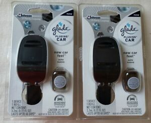 2 Glade Car Plugins Device And Refill Scent Starter Pack New Car Feel Air Fresh