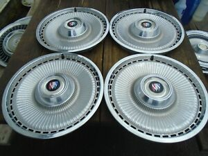 1971 1973 Buick Estate Wagon Lesabre 15 Hubcaps Set Of 4 Oem Hollander 1038