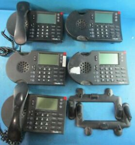 Lot Of 5 Shoretel 230 Business Phones With 2 Handsets And 2 Stand Used