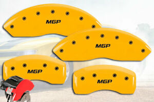 2006 2009 Jaguar Xk Front Rear Yellow Mgp Brake Disc Caliper Covers 4pc Set