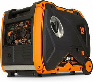 Wen 3 800 w Portable Rv Ready Gas Powered Inverter Generator With Electric Start