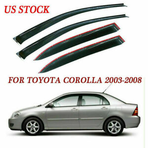 Window Visor Sun Shade Shield For Toyota Corolla 2003 2004 2005 2006 2007