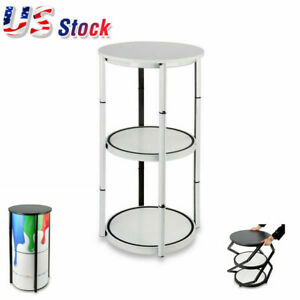 Us 41 7 Round Portable Aluminum Spiral Counter Display Case Shelves Panels
