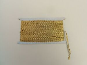 Antique French Gold Passementerie 21 87 Yards Trim Metallic Lace 1900