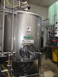 1000 Gallon Cherry Burrell Sanitary Top Agitated Mixing Tank Stainless Steel