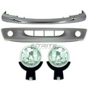 1997 2000 Dodge Dakota Front Lh Rh 4 Pcs Kit Includes Bumper Face Bar Fog Light