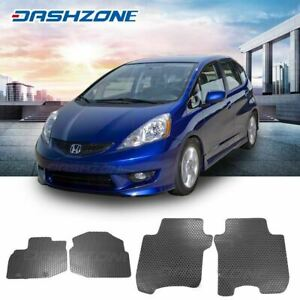 All Weather Black Rubber Floor Mat Front Rear Fit 2009 2013 Honda Fit