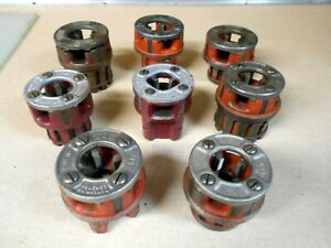 Lot Of 8 Ridgid Pipe Threader Die Dies 1 2 And 3 4 Free Shipping