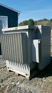 General Electric 300 Kva Transformer Primary Step Down Buck 4160v 3ph 208y