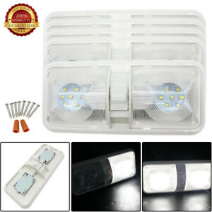 5pcs 48 Led Ceiling Dome Interior Switch Natural White Light 12v Rv Camping Fast
