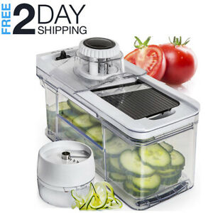 Adjustable Vegetable Fruit Dicer Onion Tomato Slicer Chopper With Spiralizer