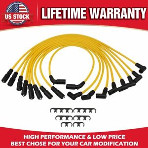 Performance Silicone Spark Plug Wires Set Compatible For Chevy Sbc Small Block
